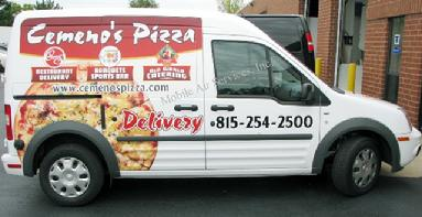 Heated Pizza Delivery Van